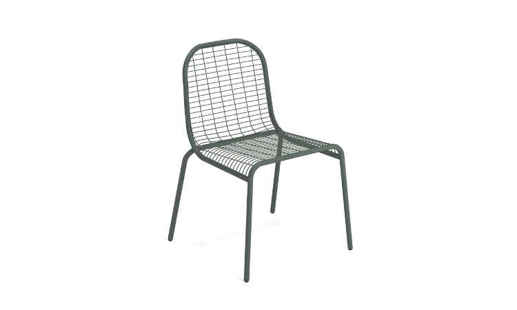 Centina, sedia in acciaio per l'arredo outdoor