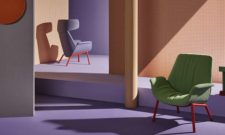 ILA, poltrona moderna per l'arredo indoor