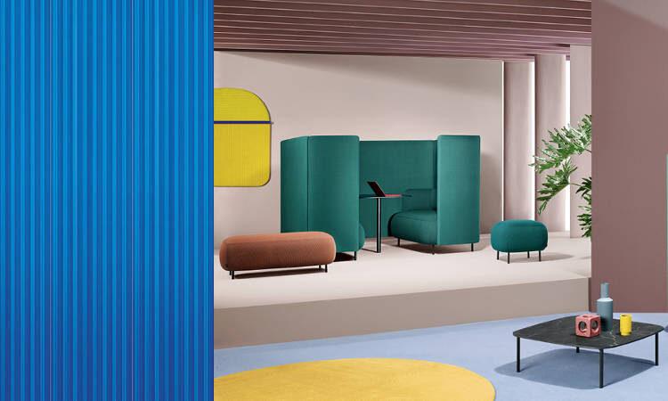 Buddy Hub, divano con nicchia di privacy acustica e visiva
