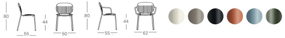 Si-Si Barcode, sedia impilabile per l'arredo indoor e outdoor