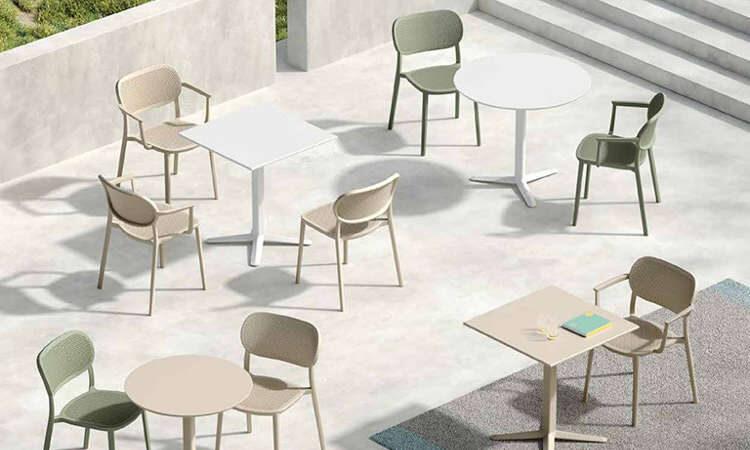 Nuta, sedia impilabile per spazi interni ed esterni