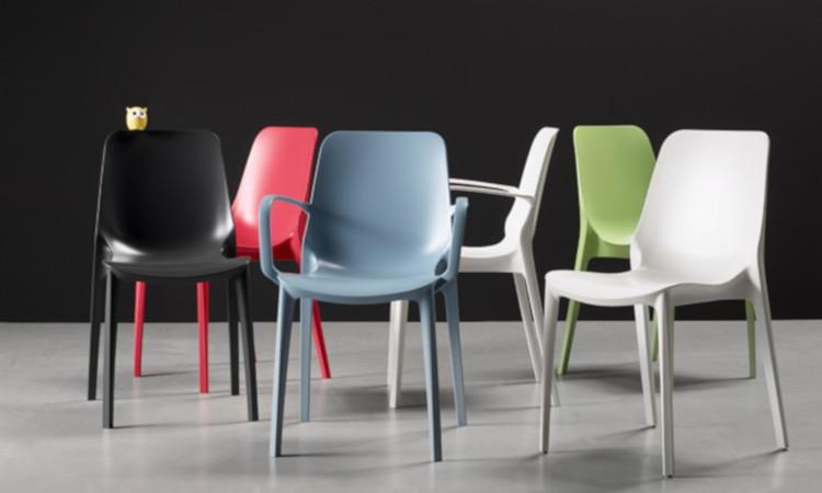 Ginevra, sedia moderna per l'arredo indoor e outdoor